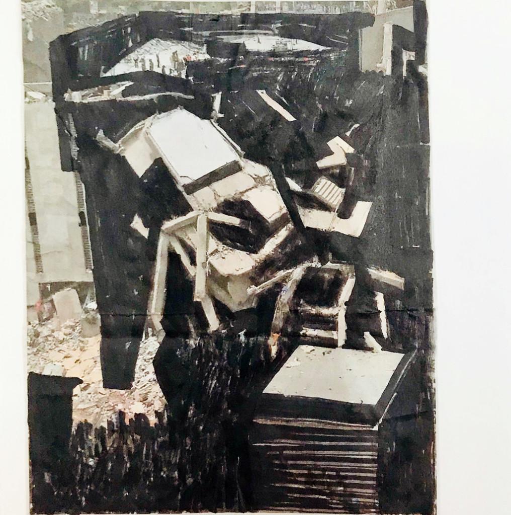 o.T. # 21, 29 x 29 cm, Papier und Marker auf Papier