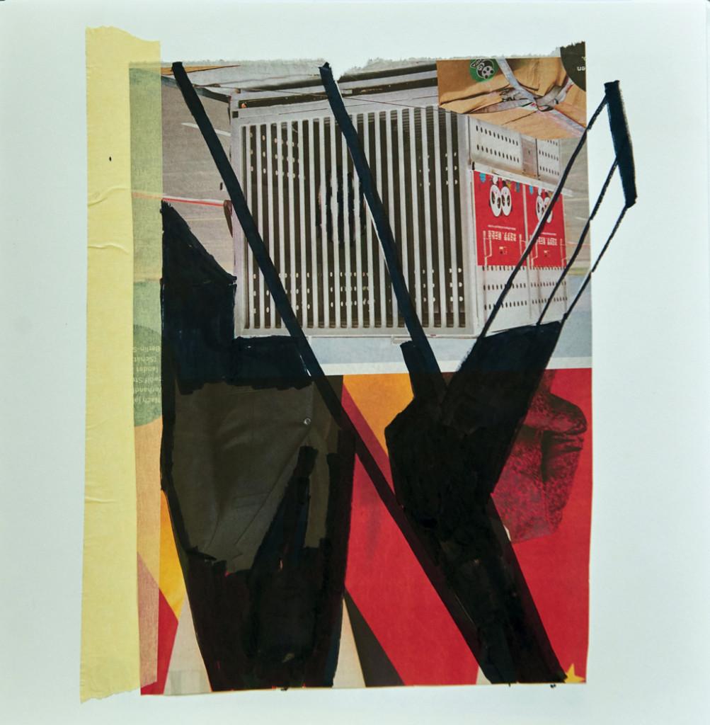 o.T. # 23, 29 x 29 cm, Papier, Tape und Marker auf Papier