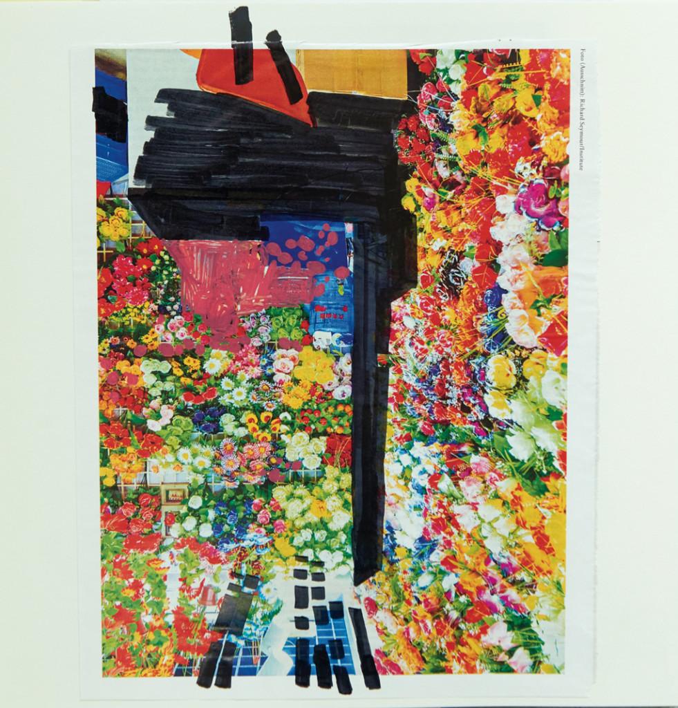 o.T. # 24, 29 x 29 cm, Papier und Marker auf Papier