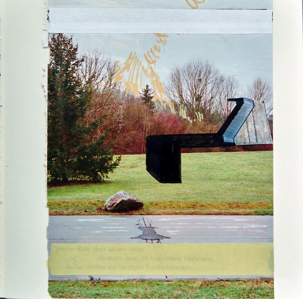 o.T. # 26, 29 x 29 cm, Papier, Tape und Marker auf Papier