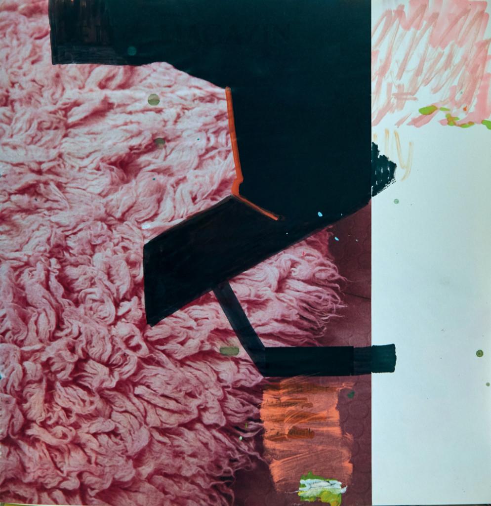 o.T. # 28, 29 x 29 cm, Papier und Marker auf Papier