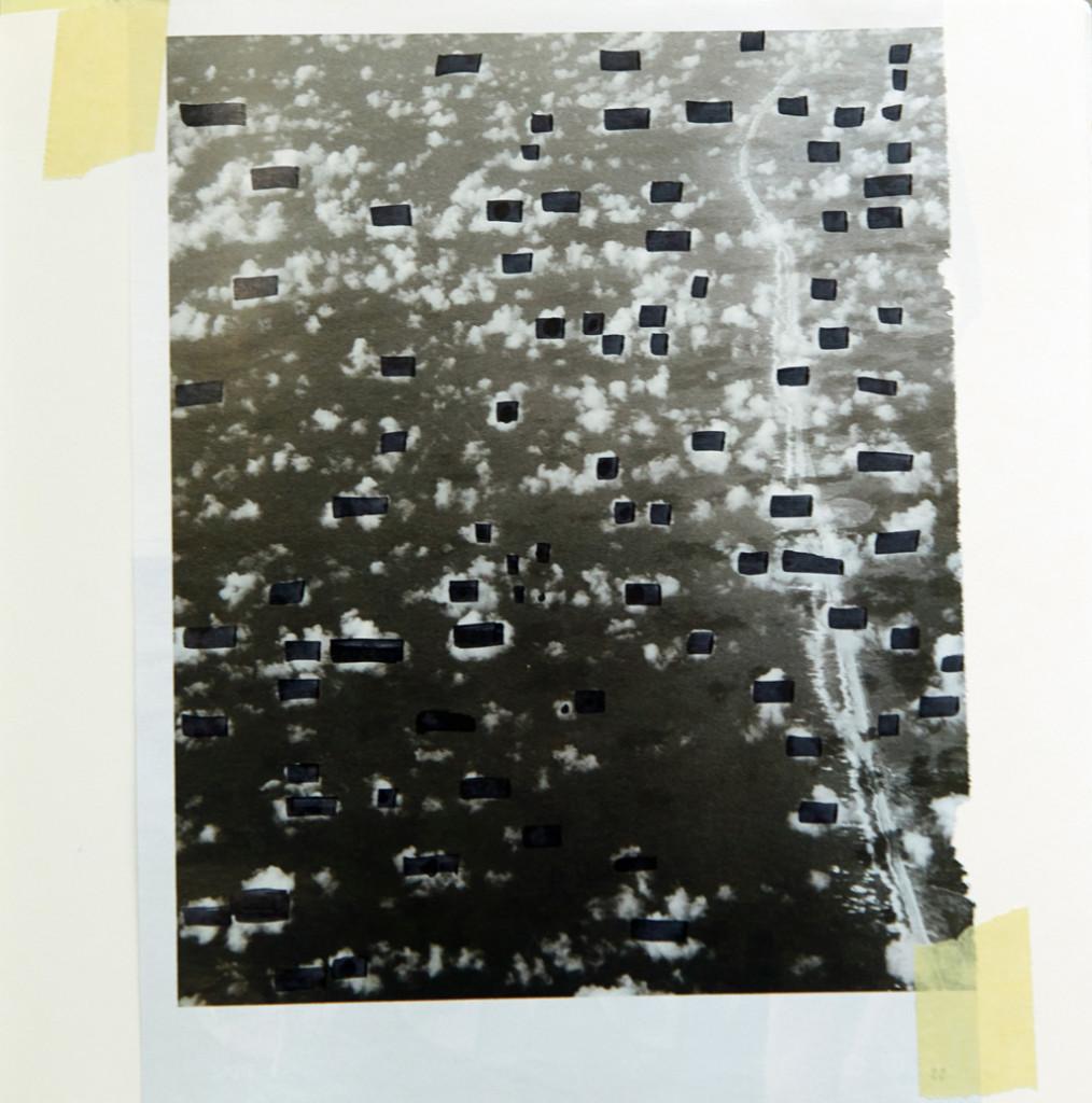 o.T. # 29, 29 x 29 cm, Papier, Tape und Marker auf Papier