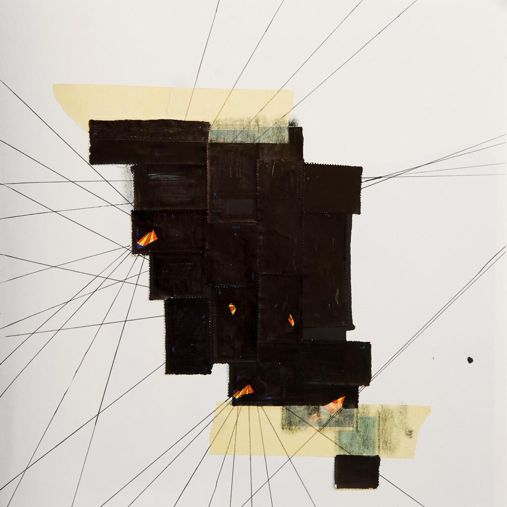 o.T. # 19, 29 x 29 cm, Papier, Tape und Stift auf Papier