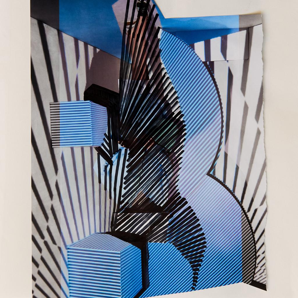 o.T. # 14, 29 x 29 cm, Papier und Marker auf Papier