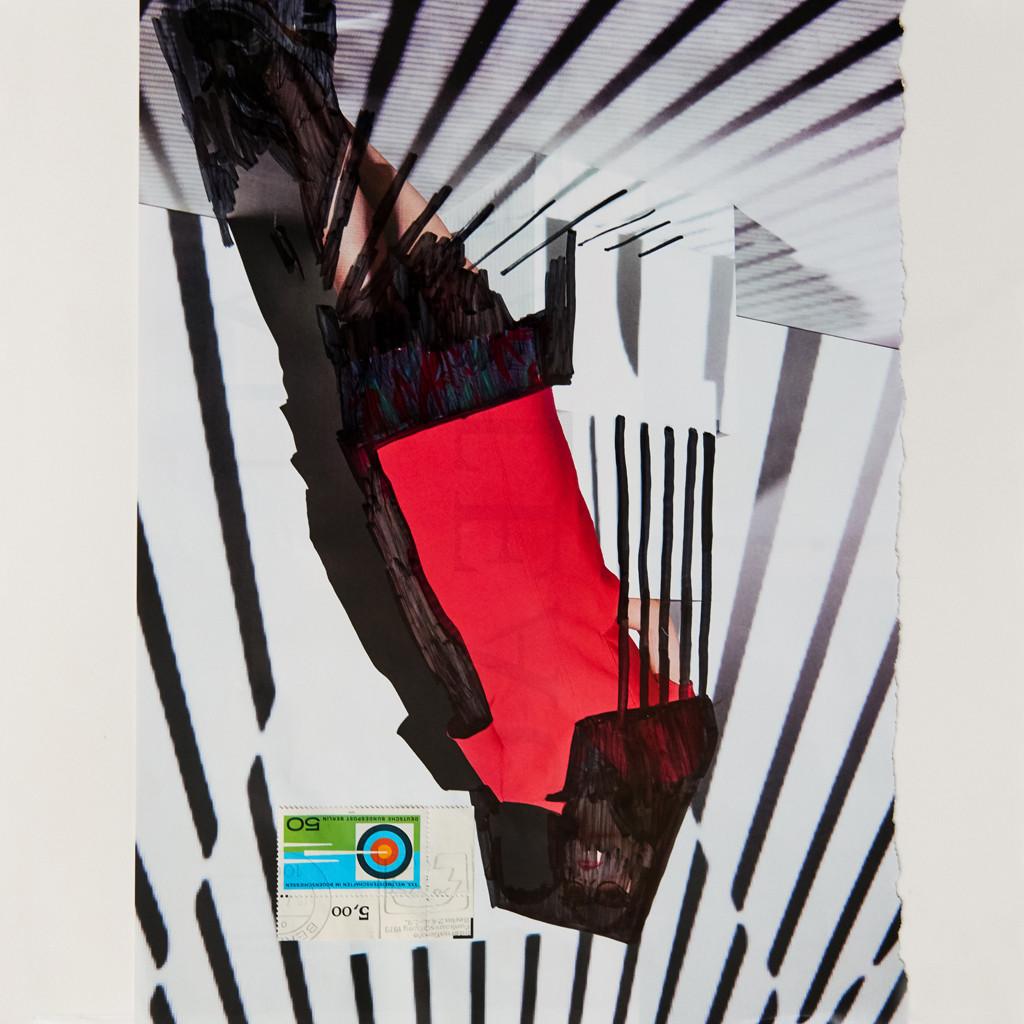 o.T. # 12, 29 x 29 cm, Papier und Marker auf Papier