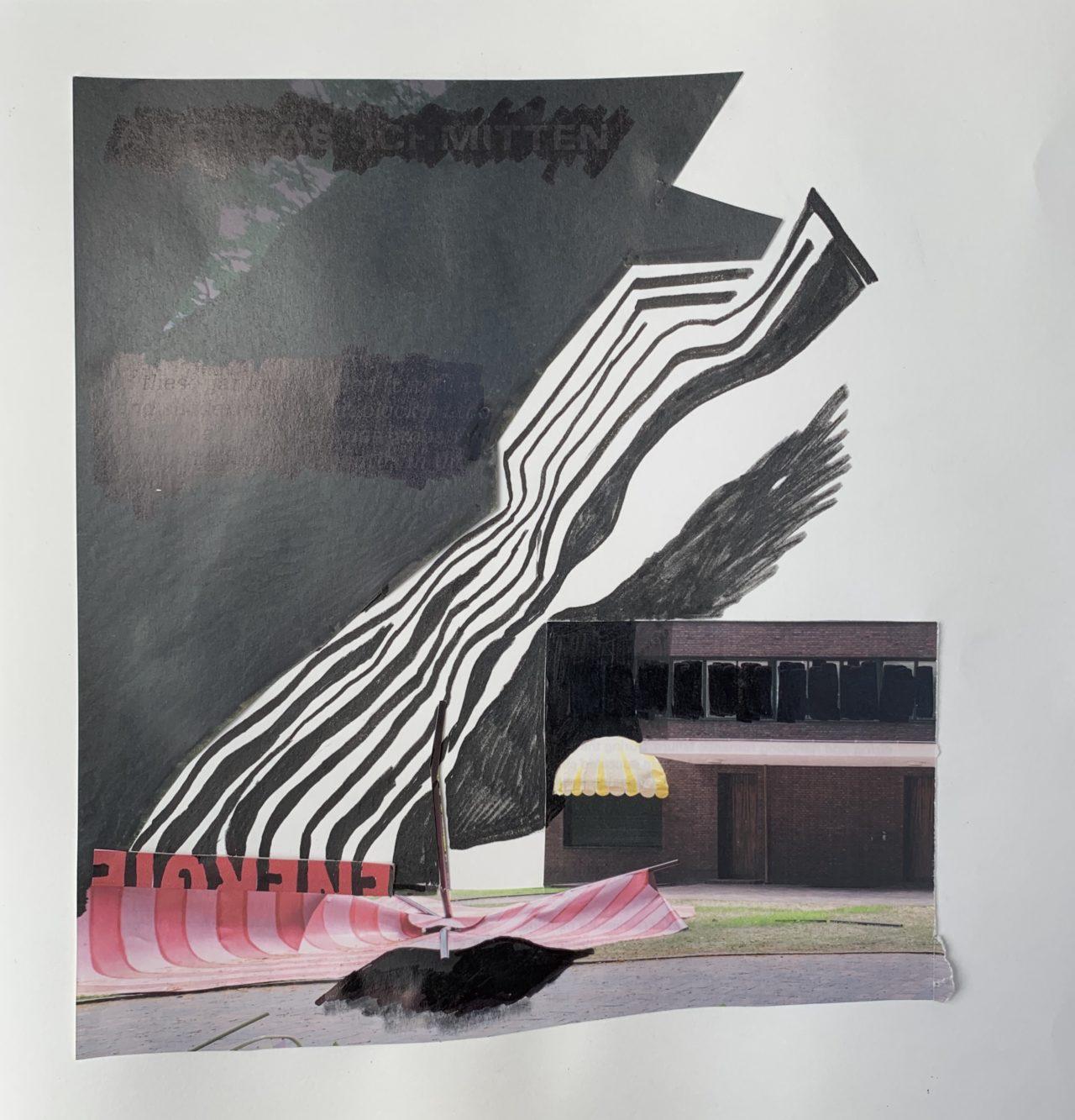 o.T. # 33, 29 x 29 cm, Papier und Marker auf Papier